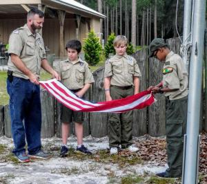Scouts Learn Flag Ceremony